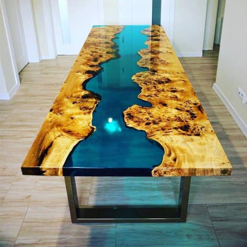 Gold Ocean River Table