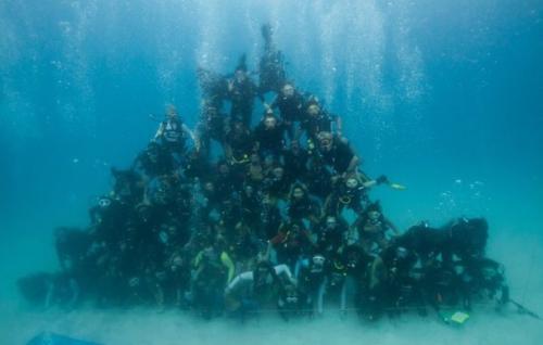 Underwater Human Pyramid